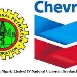 NNPC Chevron Nigeria Limited JV National University Scholarship Awards 2020